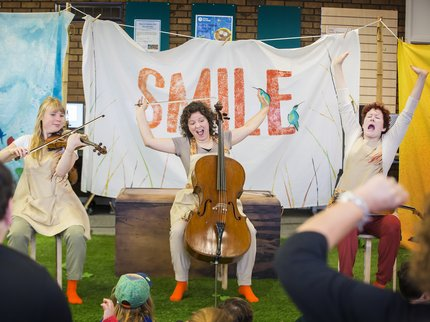 SMILE production image. Credit Pamela Raith