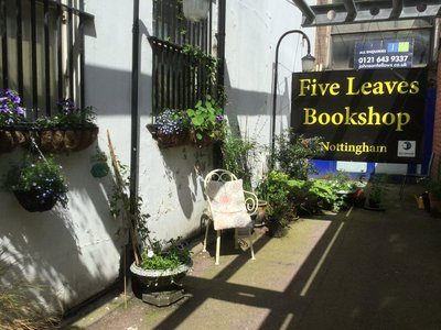 Photograph of the interior Five Leaves bookshop