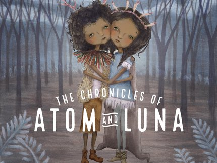 Atom and Luna. Title. SQAURE