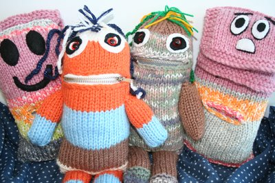 Knitted Worry Monsters