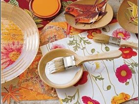 decoupage  crafts  brush
