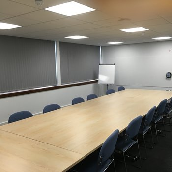 ManWood boardroom blinds closed.jpg