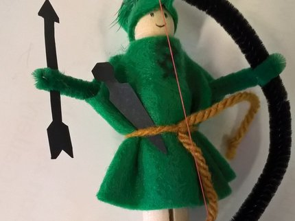 Robin Hood peg craft