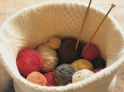 Basket of knitting